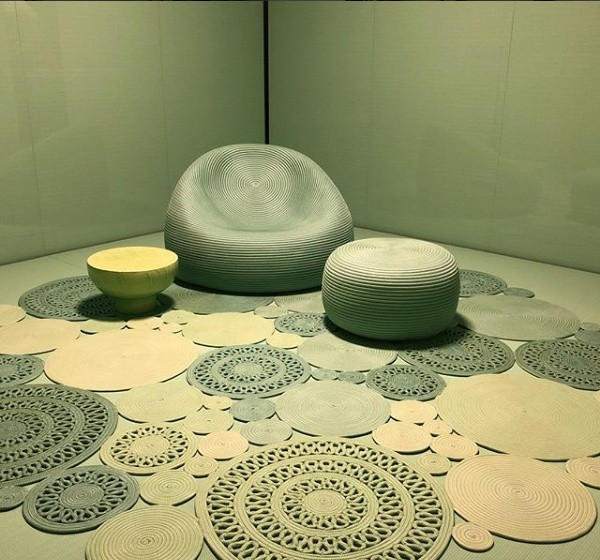 Paola Lenti criou uma composição geométrica usando círculos e tons de verde (Foto: Casa e Jardim)