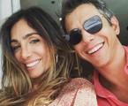 Andrea Santa Rosa e Márcio Garcia   Reprodução/ Márcio Rodrigues