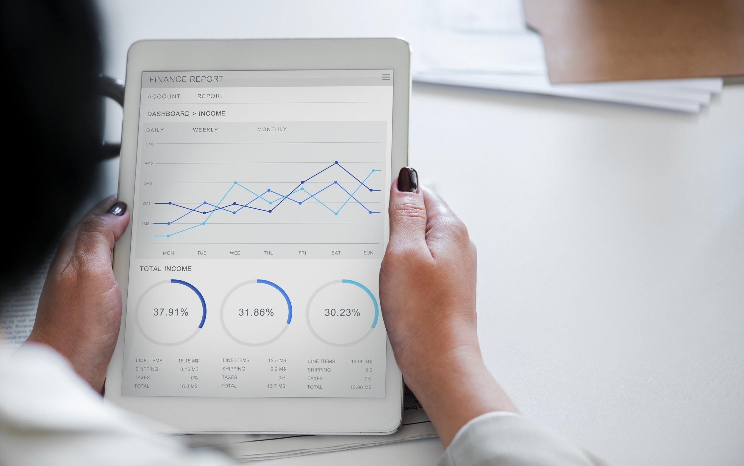 investimento, fintechs, gráficos, rentabilidade, lucro (Foto: Pexels)