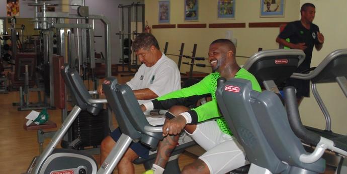 Joel Santana e Felipe são nomes conhecidos do Boavista para o Carioca (Foto: Gustavo Garcia/GloboEsporte.com)
