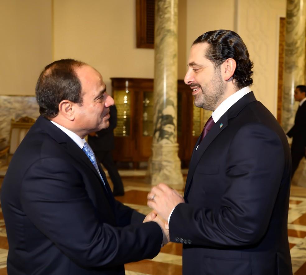 Desta vez Hariri viaja para o Egito