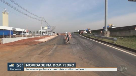 Rodovia Dom Pedro I, em Campinas, ganha pista local