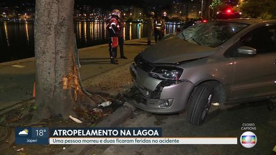 Uma pessoa morre e duas ficam feridas em um acidente com atropelamento na Lagoa