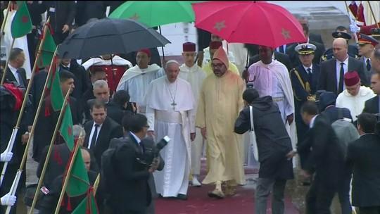 Papa chega ao Marrocos para uma visita de dois dias