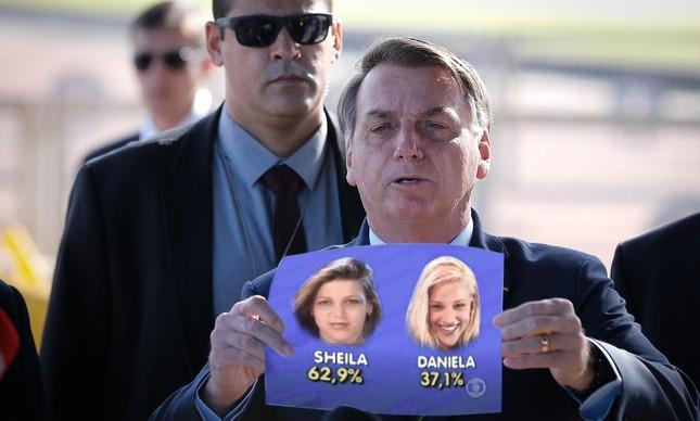 Bolsonaro voltou a questionar resultado de eleições passadas