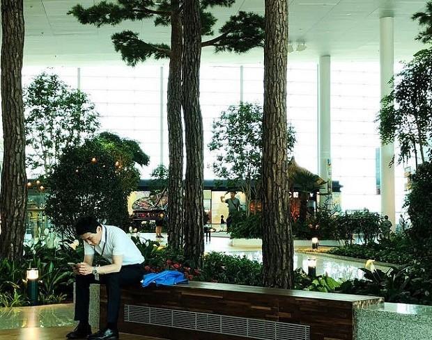 O Aeroporto internacional de Incheon, na Coreia do Sul, tem jardins em seu interior (Foto: Reprodução/Instagram)