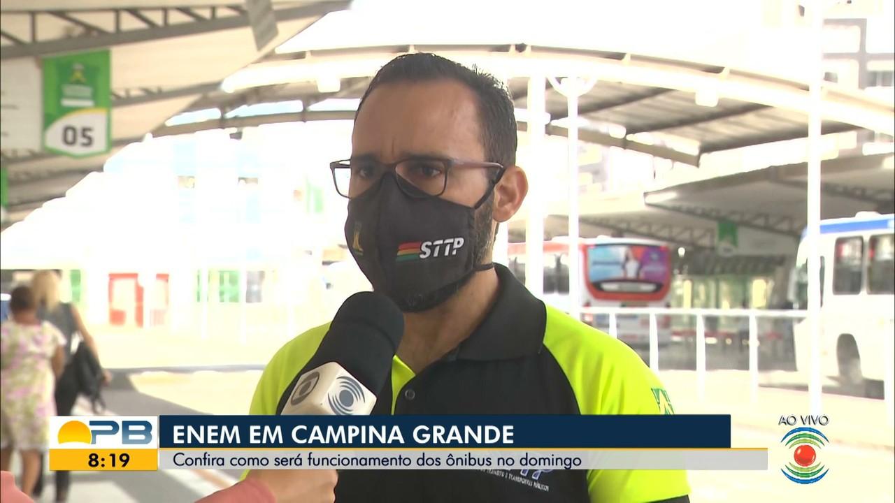 Confira como será o funcionamento dos ônibus de Campina Grande para o segundo dia de Enem