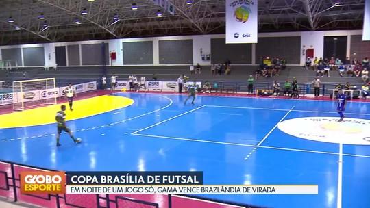 Gama vence Brazlândia e garante o primeiro lugar do Grupo C da Copa Brasília de Futsal