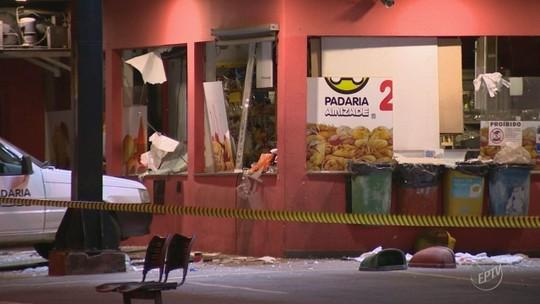 Suspeitos utilizam explosivos para roubar loja em posto de combustível de Santa Bárbara