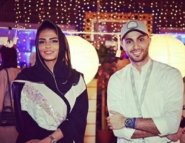 A princesa Ameera Al-Taweel e o marido Khalifa bin Butti al-Muhairi (Foto: Reprodução/Instagram)