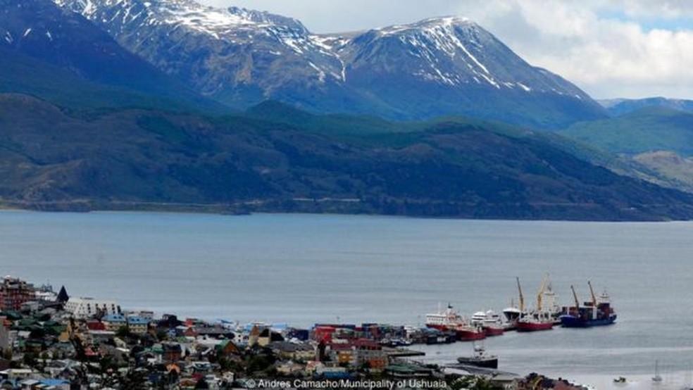 Ushuaia, na Argentina, é conhecida como a cidade mais austral do mundo  (Foto: Andres Camacho/ Municipalidad de Ushuaia)