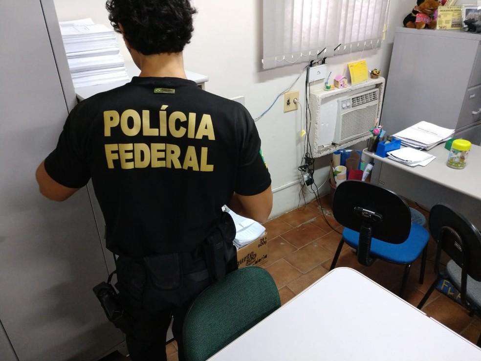 Mandados de prisão e de busca e apreensão foram cumpridos em órgãos públicos, residências, escritórios e empresas, na Paraíba — Foto: Polícia Federal/Divulgação