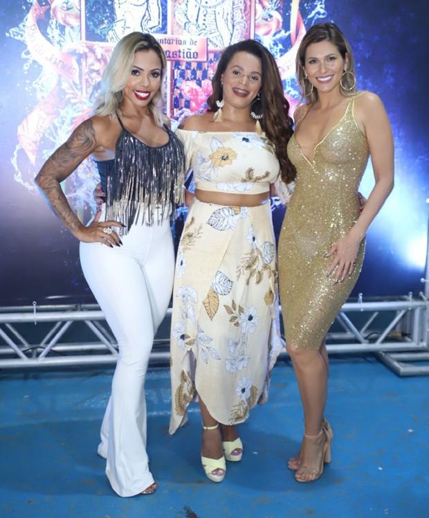 Mylla Ribeiro, Carol Marins e Lívia Andrade (Foto: Daniel Pinheiro/AgNews)