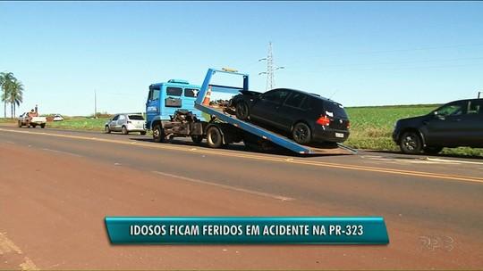 Idosos ficam feridos em acidente na PR-323