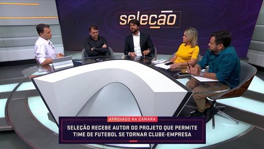 No Seleção SporTV, deputado explica projeto de lei para incentivar clube-empresa; vídeo