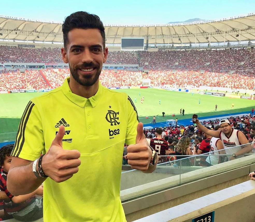 A primeira vez de Marí no Maracanã: goleada do Flamengo por 6 a 1 sobre o Goiás — Foto: Divulgação