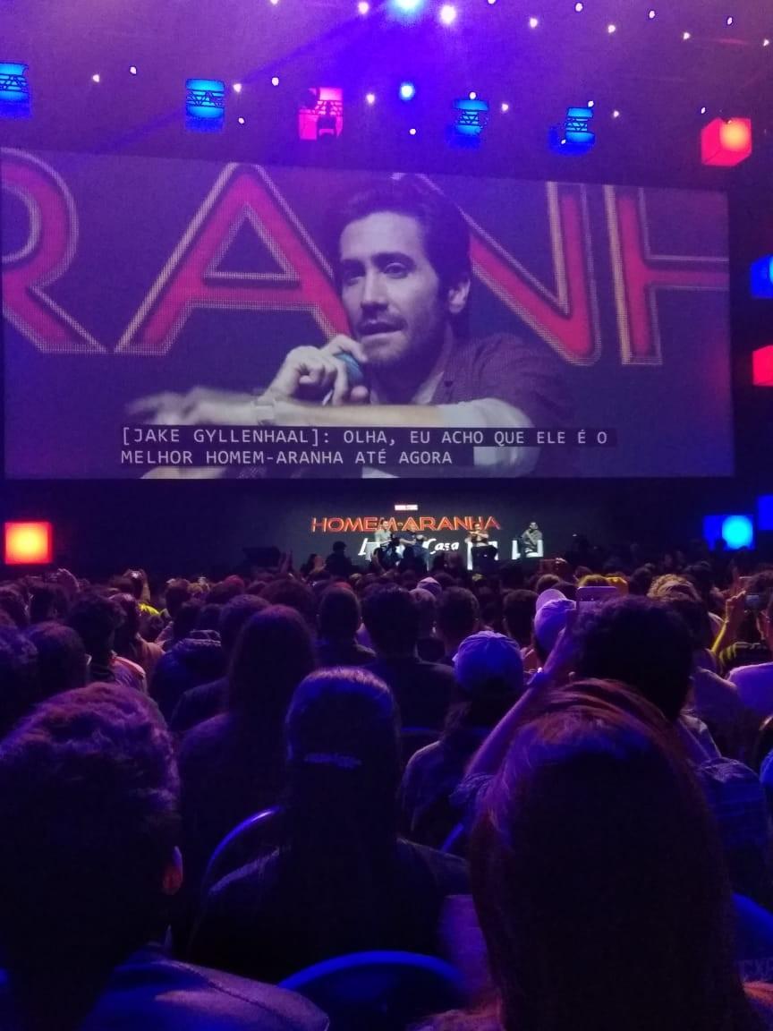 Jake Gyllenhaal em painel na CCXP 2018 (Foto: Isabela Moreira)