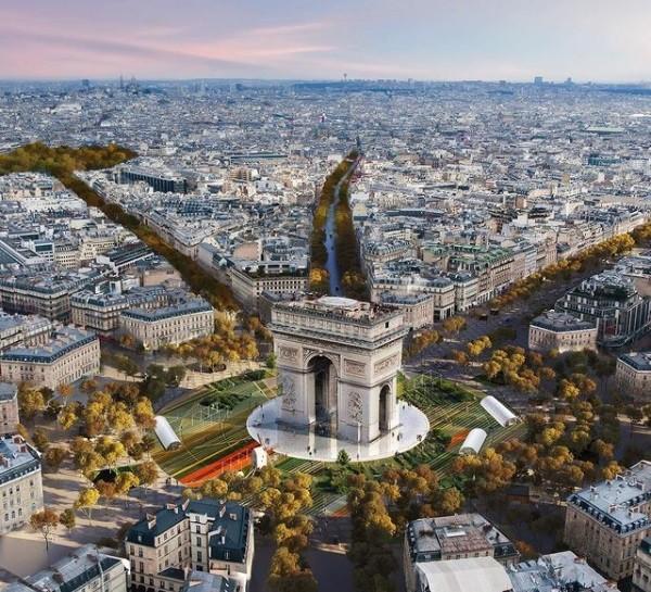 """Projeto visa transformar Champs-Élysées em """"jardim extraordinário"""" após as Olimpíadas de 2024 (Foto: Reprodução / PCA-STREAM)"""