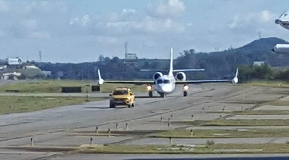 Aeronave saiu de Fortaleza (CE) e chegou a Jundiaí por volta das 9h10 de domingo (20) (Foto: Divulgação/Jornal da Região)
