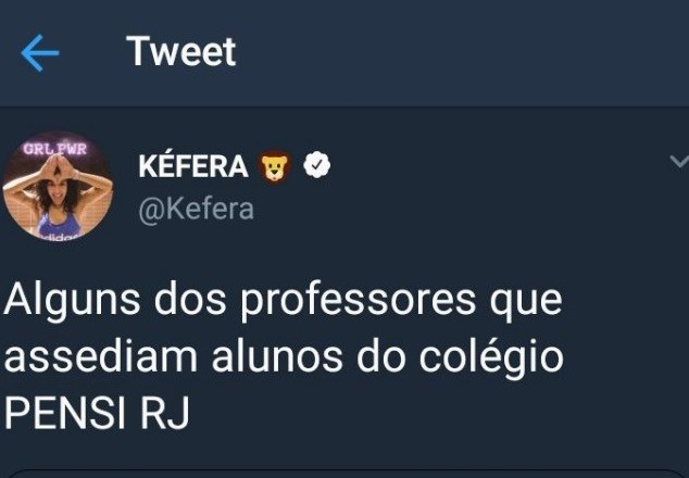 Kéfera retuíta post de alunas do Pensi