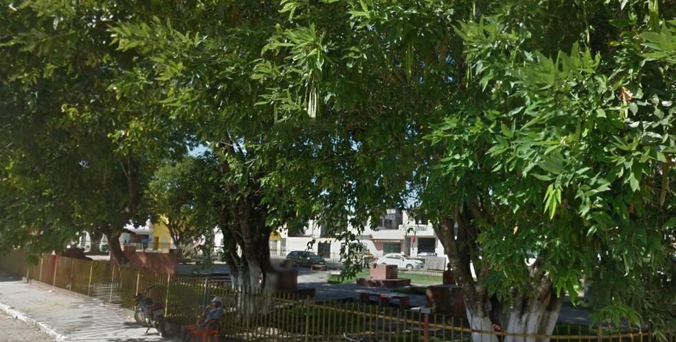 Praça das Crianças fica em Goiana, no Grande Recife — Foto: Reprodução/Googfle Street View