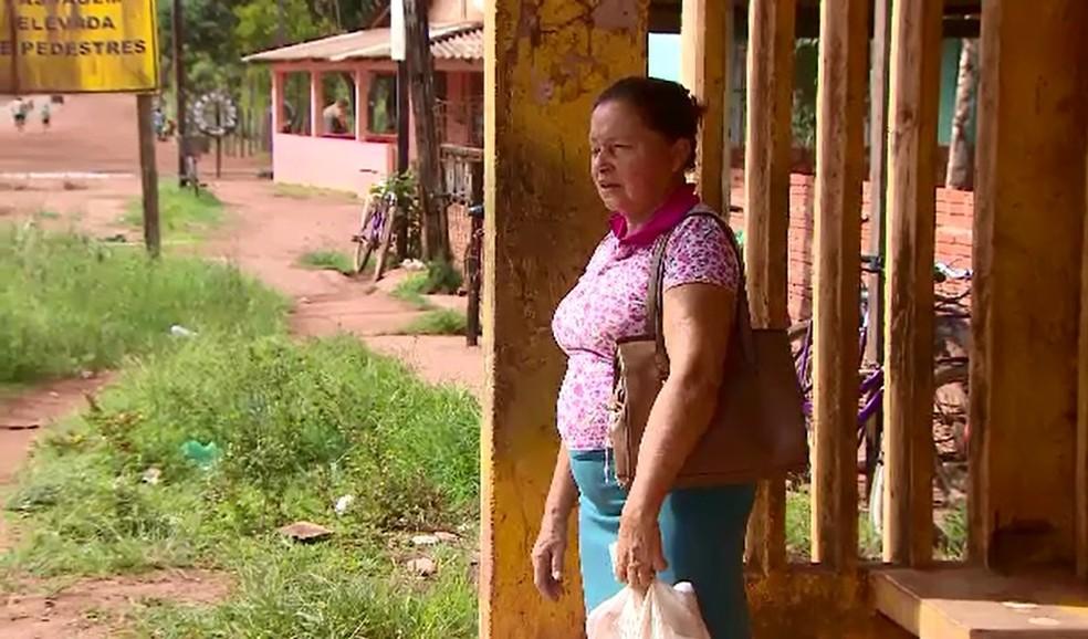Maria da Conceição Soares alerta para os riscos do transporte irregular — Foto: Rede Amazônica/Reprodução