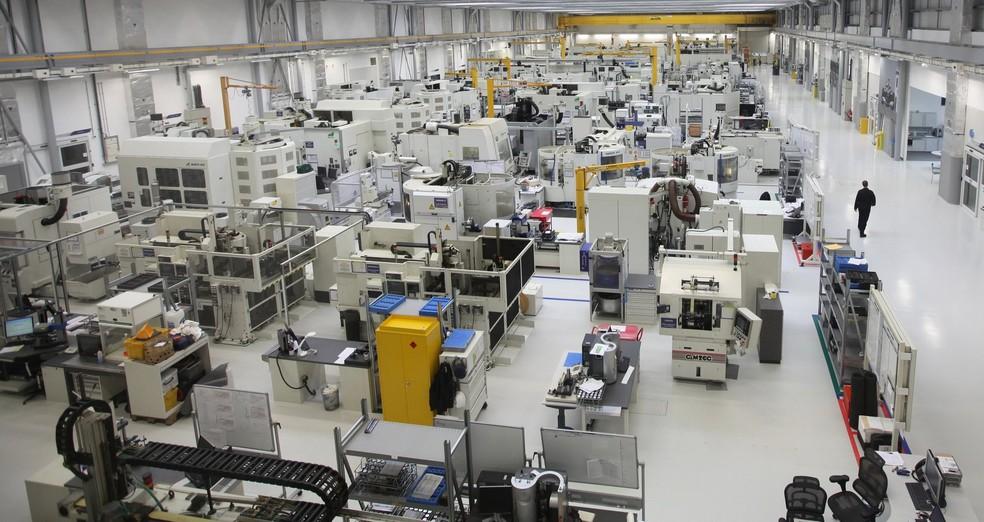 Fábrica da Mercedes em Brixworth — Foto: Reprodução
