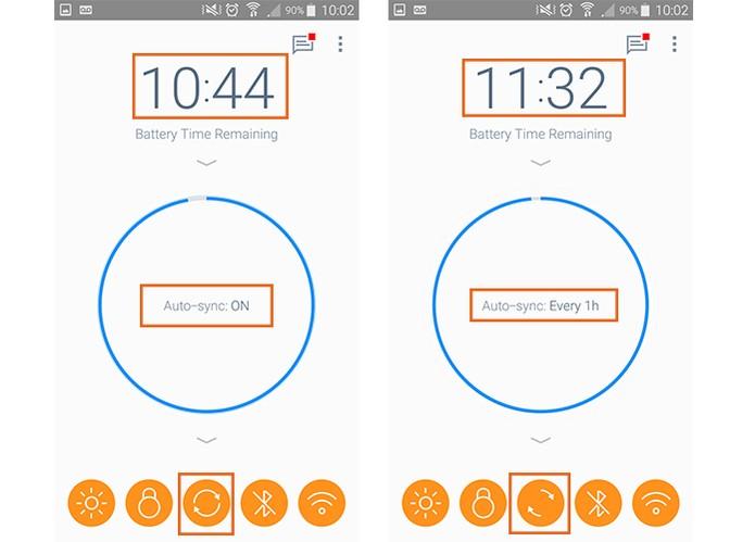 Aumente o tempo de sincronização de dados para poupar carga (Foto: Reprodução/Barbara Mannara)