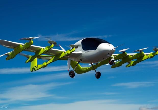 Cora, veículo elétrico e autônomo da Kitty Hawk. Startup quer comercializá-lo até 2021 (Foto: Divulgação/Kitty Hawk)
