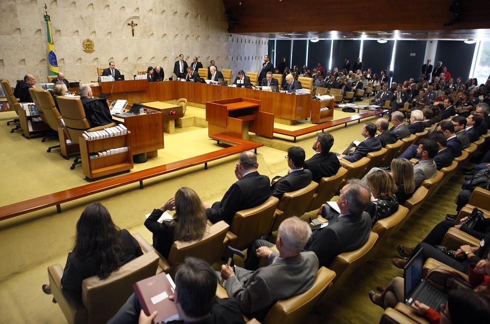 Plenário do Supremo Tribunal Federal (STF) durante sessão de julgamentos — Foto: Nelson Jr./SCO/STF