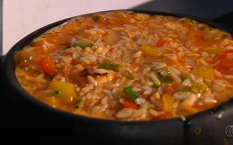 -  Panelinha de frutos do mar faz sucesso em restaurante de Goiânia  Foto: TV Anhanguera/Reprodução