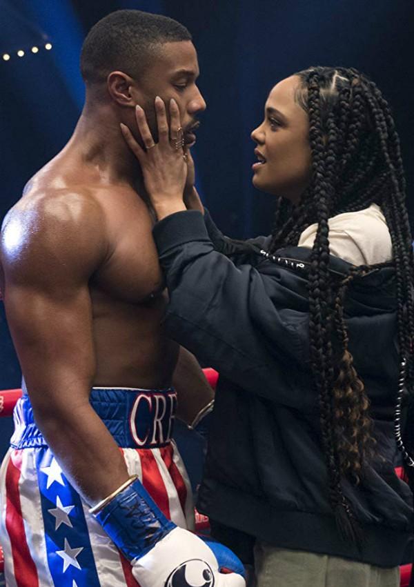 Michael B. Jordan e Tessa Thompson em Creed II (Foto: Divulgação)