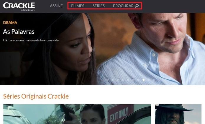 Crackle tem filmes e séries da Sony e rivaliza com Netflix (Foto: Reprodução/Rodrigo Fernandes)