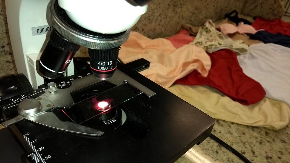 Análise em roupas íntimas abrange peças novas e usadas em estudo de Campinas (Foto: Patrícia Teixeira/G1)