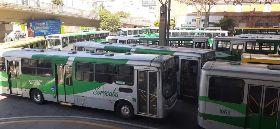 Durante o mês de abril os motoristas chegaram a parar totalmente o atendimento à população por quatro dias — Foto: Divulgação/Urbes
