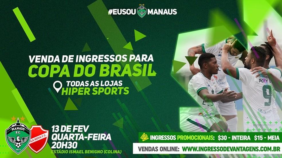 6a07cb009 Copa do Brasil  Manaus inicia venda de ingressos em pontos físicos ...