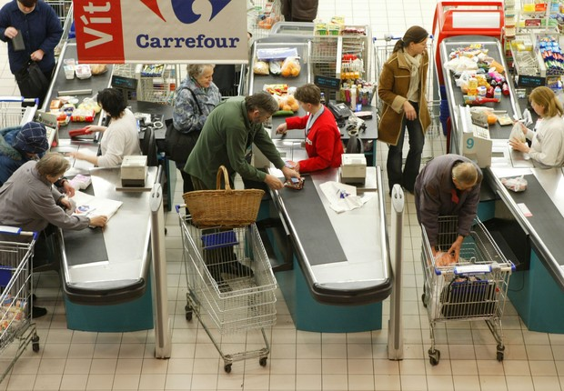 Unidade do Carrefour na Europa (Foto: Sean Gallup/Getty Images)