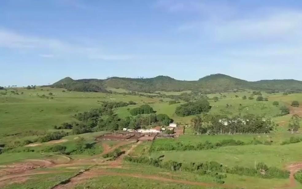 Fazenda comprada por padre Robson e que gerou ação judicial — Foto: Reprodução/TV Anhanguera