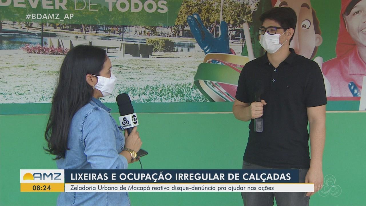 Disque-denúncia para ocupação de calçadas é reativado em Macapá