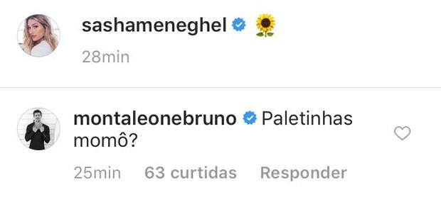 Comentário de Bruno Montaleone (Foto: Reprodução/Instagram)