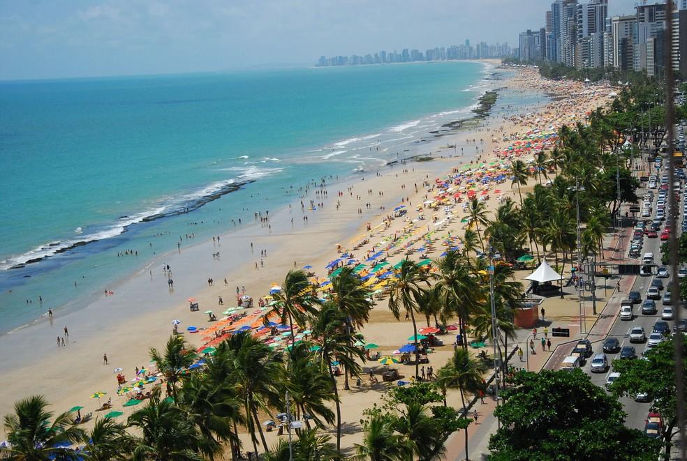 Praia de Boa Viagem, na Zona Sul do Recife — Foto: Prefeitura do Recife/Arquivo
