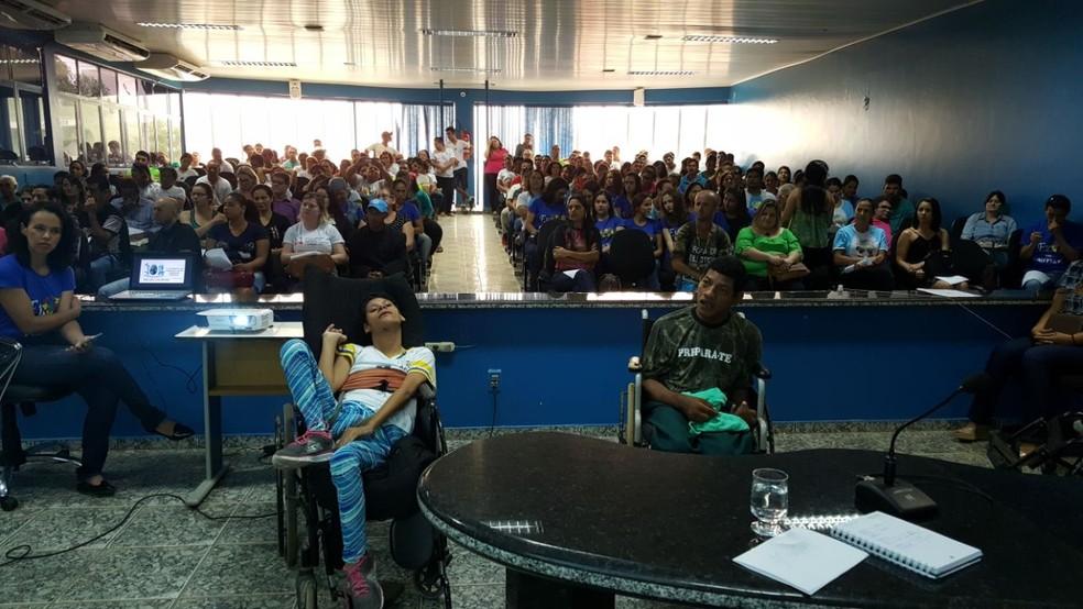 Palestras e atividades foram realizadas em alusão ao Dia Nacional da Luta da Pessoa com Deficiência em Ji-Paraná, RO (Foto: Pâmela Fernandes/G1)