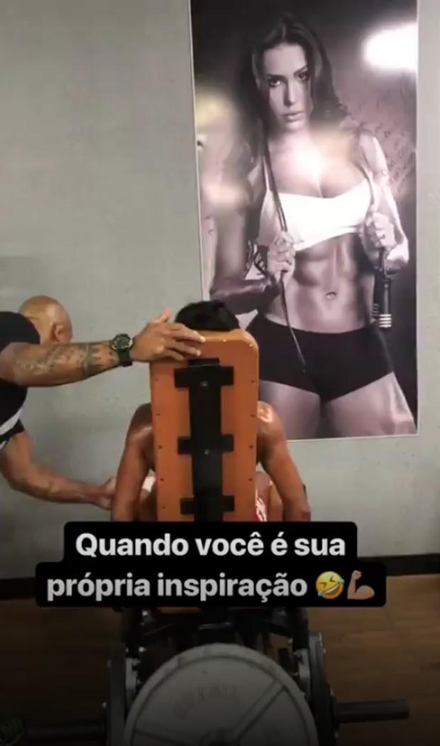 """Gracyanne Barbosa tem foto sua na academia como """"inspiração"""" (Foto: Reprodução/Instagram)"""