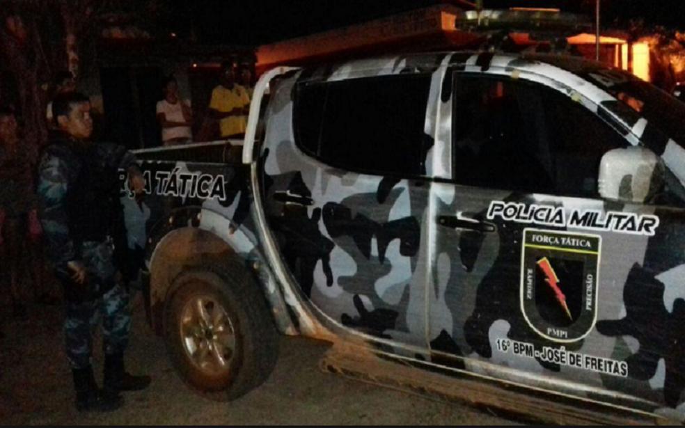 16º Batalhão da Polícia Militar em José de Freitas atendeu a ocorrência. (Foto: Realidade em Foco)