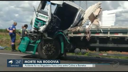 Motorista de caminhão morre em acidente entre Colina e Barretos, SP
