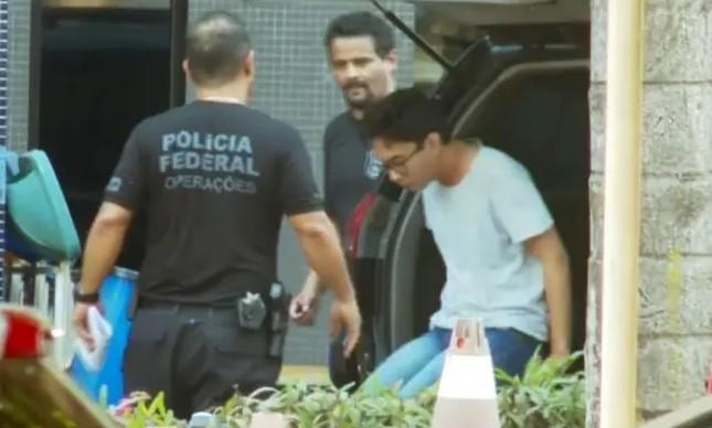 O estudante Luiz Molição, acusado de integrar a quadrilha de hackers que invadiu celulares de quase mil autoridades