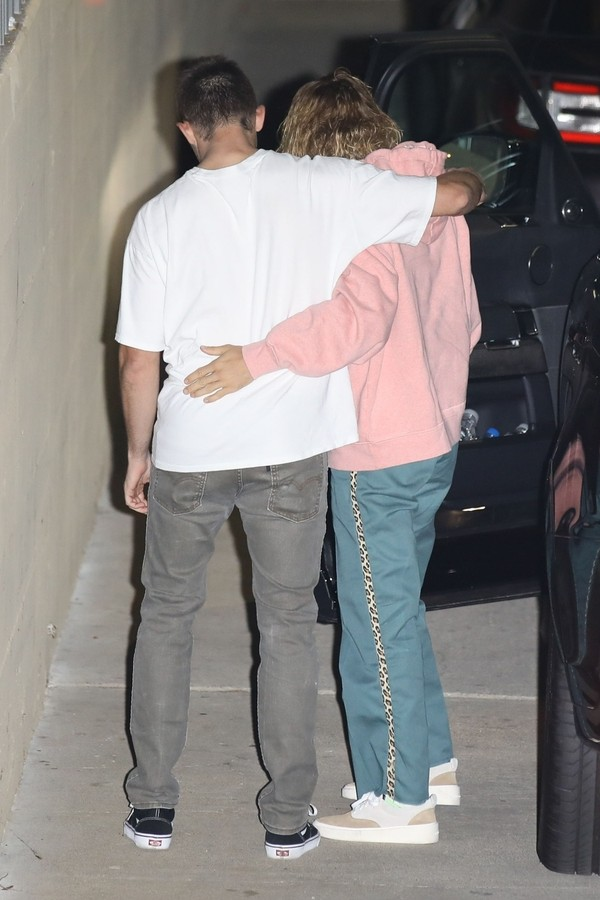 Justim Bieber e amigo (Foto: AKM-GSI)