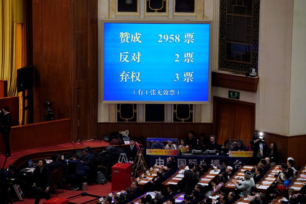 Alteração na Constituição passou por assembleia com 2 votos 'não' e 3 abstenções (Foto: Jason Lee/Reuters)