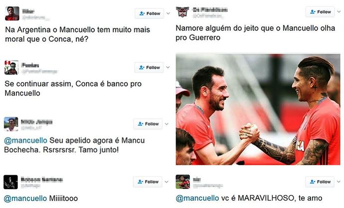 Menções Mancuello Fla (Foto: Reprodução )