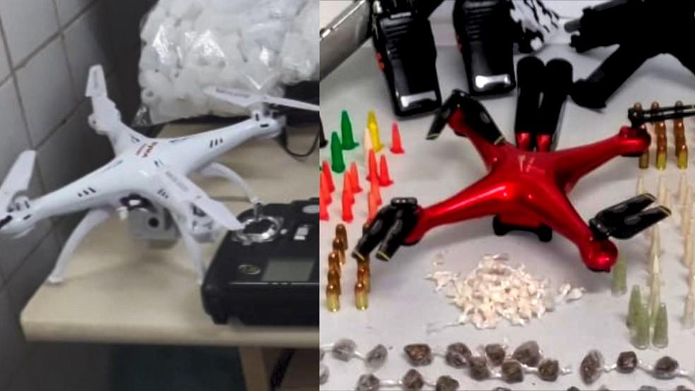 Drones apreendidos na Grande Vitória — Foto: Reprodução/ TV Gazeta
